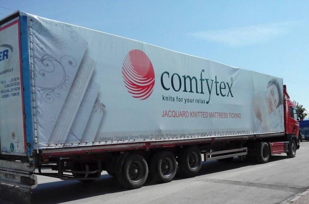 Digital Baskılı Tır Brandası Comfytex Firma Kamyon Branda Çalışması