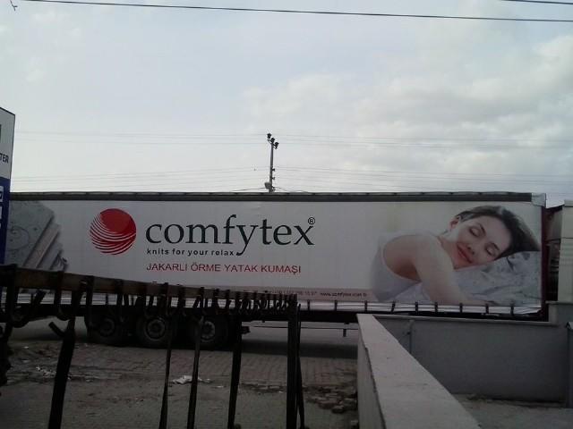 Comfytex Firması Tır Branda Örneği