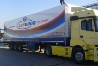 Abs Door Çelik Kapı Firması Dijital Baskılı Tır Brandası