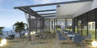 Restoran Işıklı Otomatik Pergola Tente Sistemi
